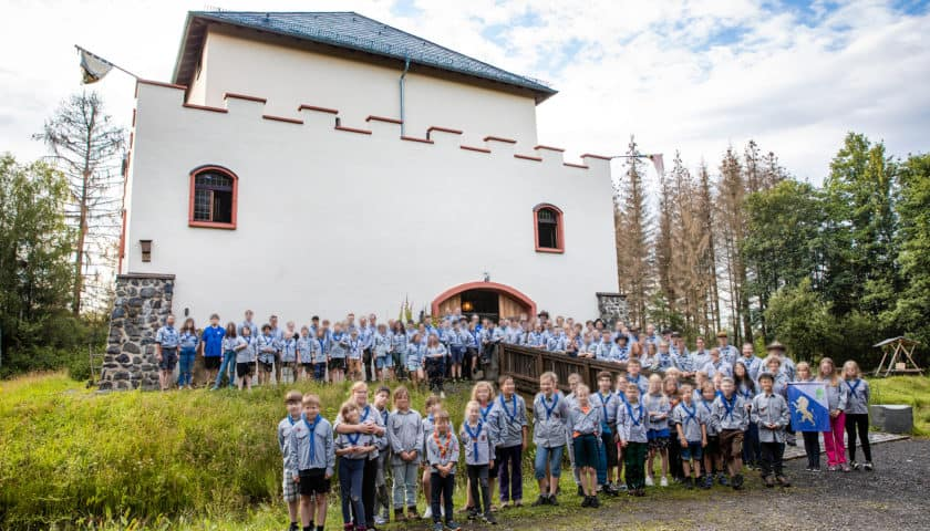 Gruppenfoto vom Regional Lager Mitte der Pfadfinder